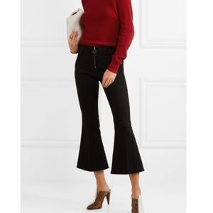 FRAME Le Crop Bell mid-rise flared jeans